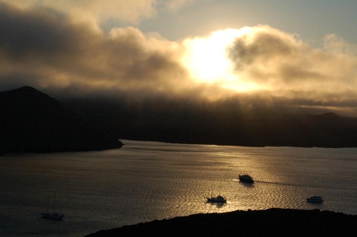 Morning light in Galapagos