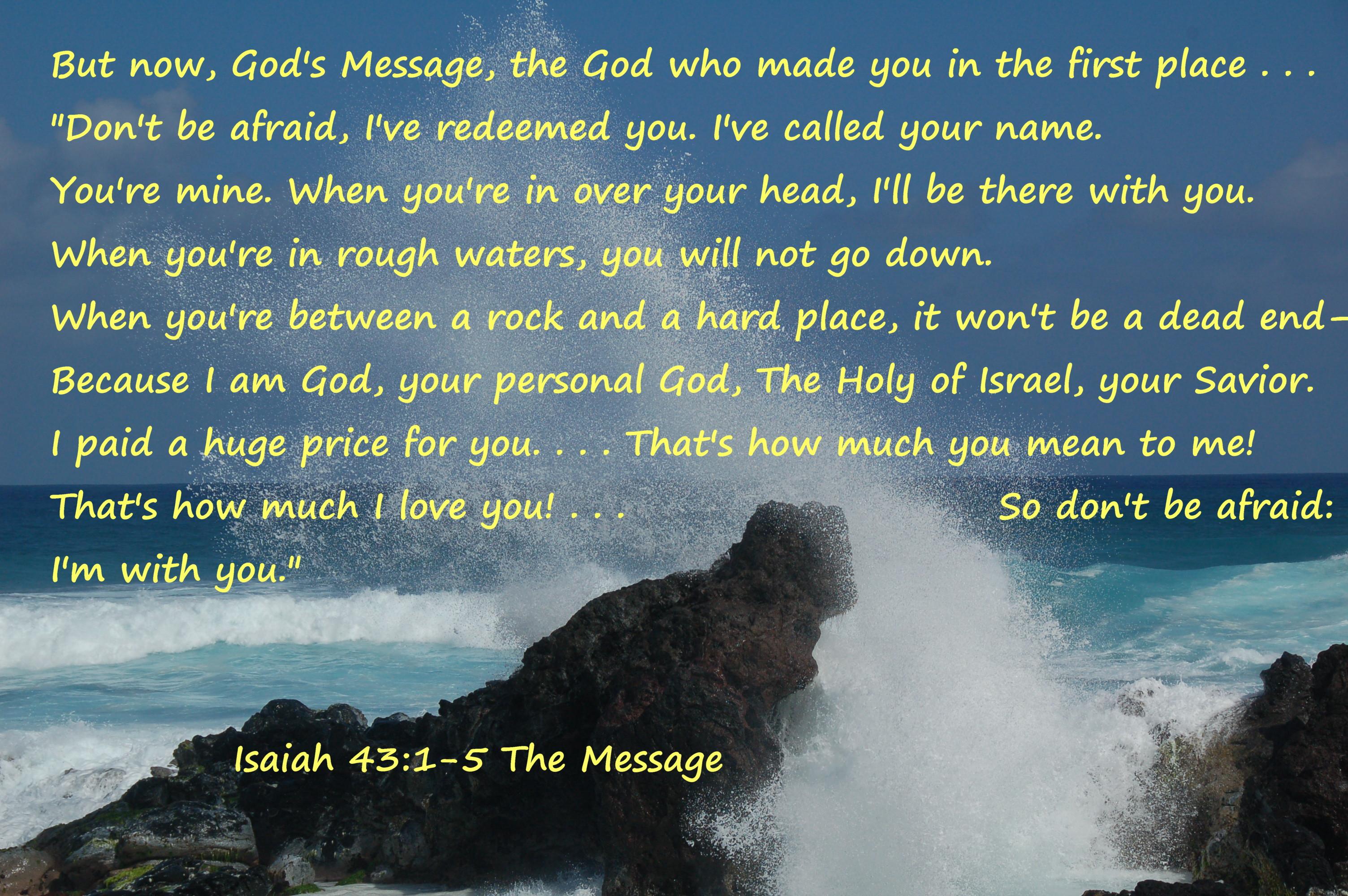 Isaias 43 1-5 Maui Waves Isaiah 43:1_5