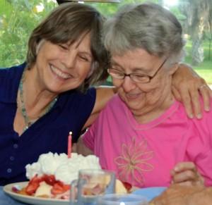 MomMom and Janie w bday strawberry shortcake