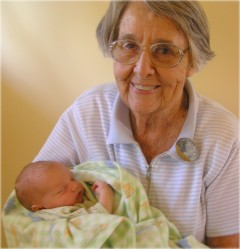 Mommom holding great-grandchild