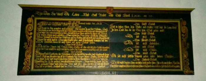 Ten Commandments from 1681