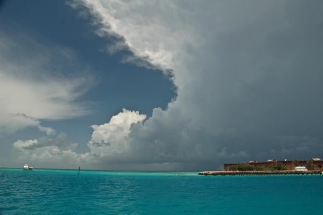 Storm off Ft Jefferson, Dry Tortugas, JHT