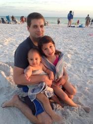 Jack d Arielle Eylsse at beach 5 2014