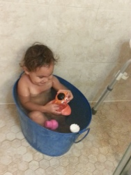 Temporary relief in the tub