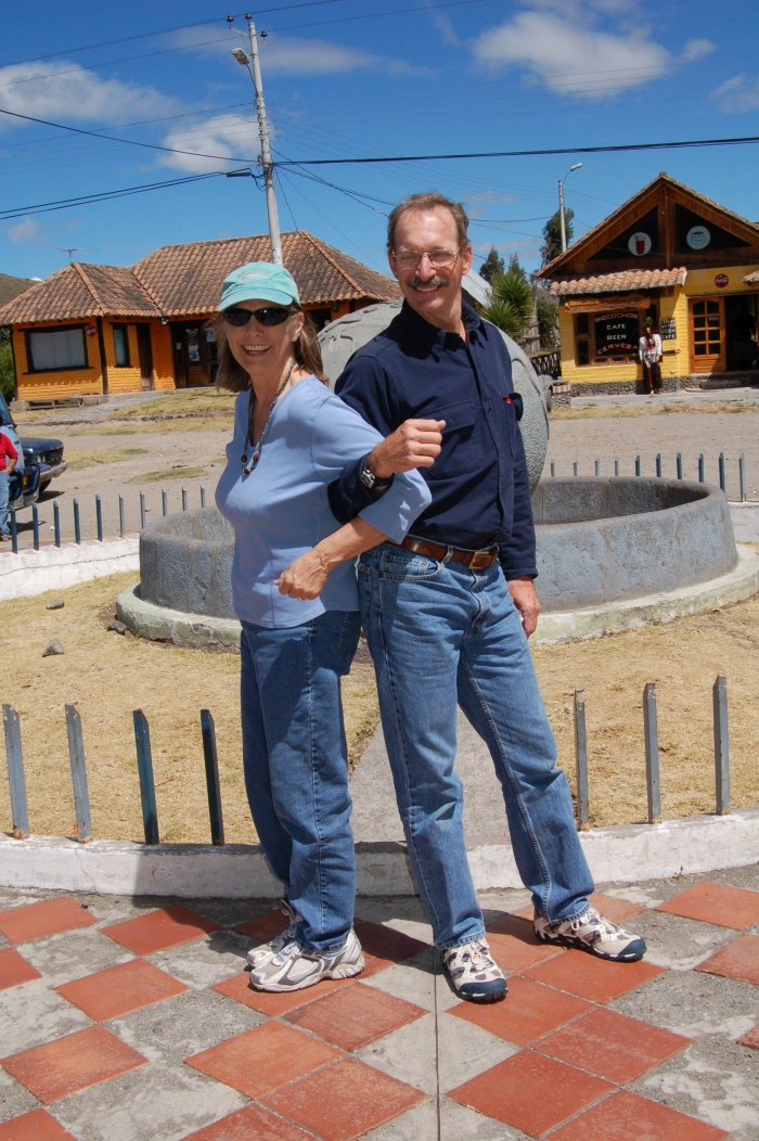 Jane and Jack in different hemispheres, at the ecuator