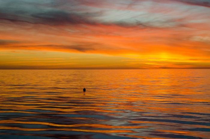 Sunset on the water by Jack H Thompson, JR