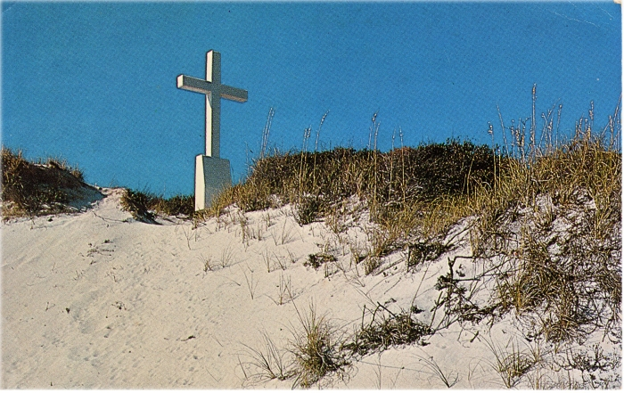 Cross on dunes on Pensacola Beach