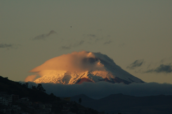 View of snow-topped volcano from Quito, Ecuador by Jack H Thompson, JR