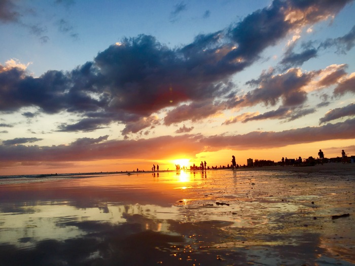sunset over Sarasota