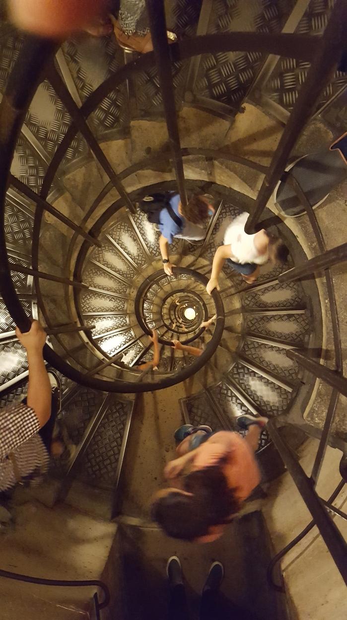 climbing staircase